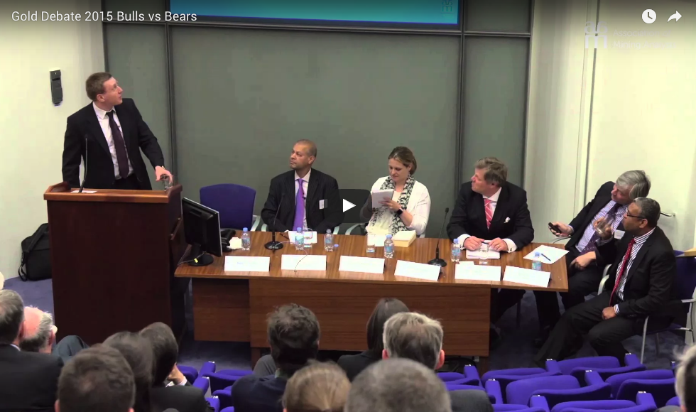 "A still from the video for the ""Bulls vs Bears"" Gold Debate 2015"